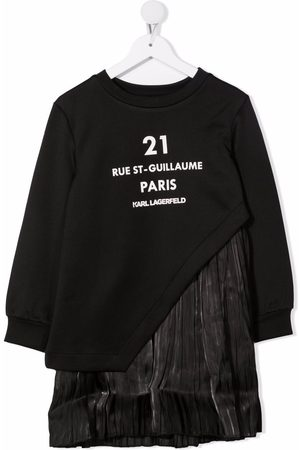 Karl Lagerfeld Girls Casual Dresses - Graphic-print contrast dress