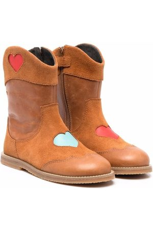 Camper Girls Ankle Boots - TWS heart-motif boots