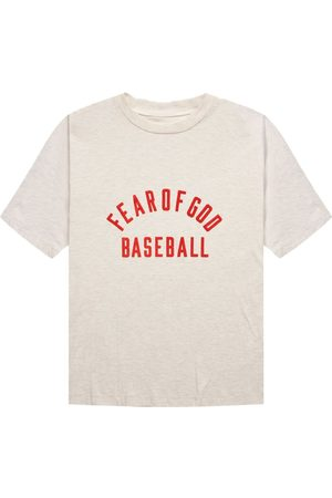 FEAR OF GOD Classic Baseball Tee Cream And Red