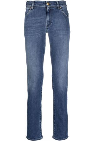 Pt05 Mid-rise faded skinny jeans