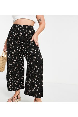 Yours Wide leg trouser in floral