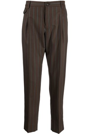 Dolce & Gabbana Pinstripe-print tailored suit trousers