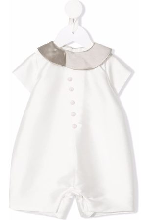 LA STUPENDERIA Bodysuits & All-In-Ones - Satin-finish button-detail shorties
