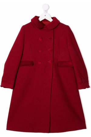 SIOLA Girls Coats - Two-pocket virgin-wool double-breasted coat