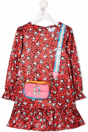 The Marc Jacobs Girls Casual Dresses - Logo-print long-sleeved dress