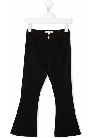 Emilio Pucci Girls Jeans - Mid-rise flared jeans