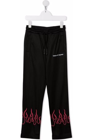 Vision Of Super Flame-embroidery track trousers