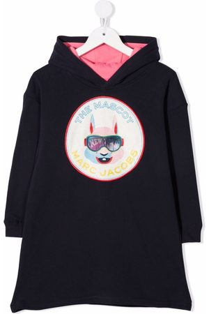 The Marc Jacobs Logo-patch hooded dress