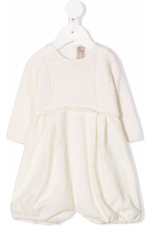 LA STUPENDERIA Baby Rompers - Knitted-panel contrast romper