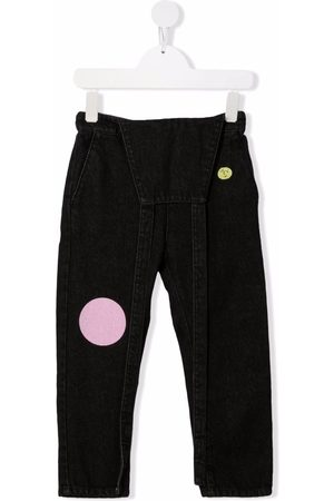 Bobo Choses Embroidered-circles dungaree jeans