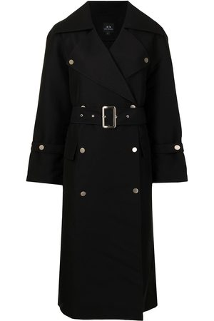 Armani Women Trench Coats - Belted double-breasted coat