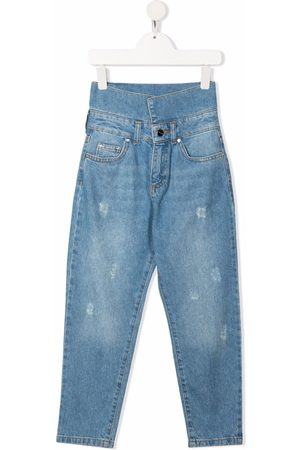 Pinko Kids Girls Jeans - High-waisted jeans