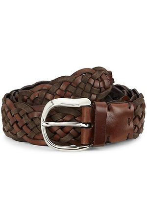 Brunello Cucinelli Two-Tone Leather Braided Belt