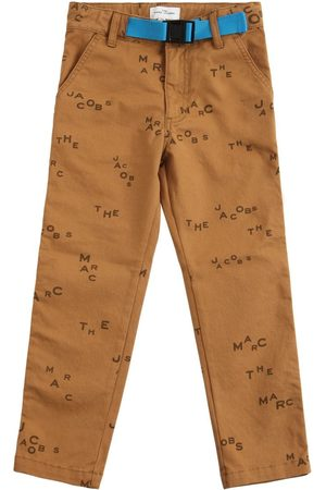 MARC JACOBS (THE) All Over Logo Print Cotton Twill Pants