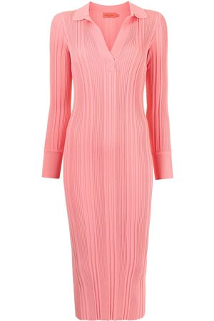 MANNING CARTELL Women Knitted Dresses - Ribbed-knit midi dress