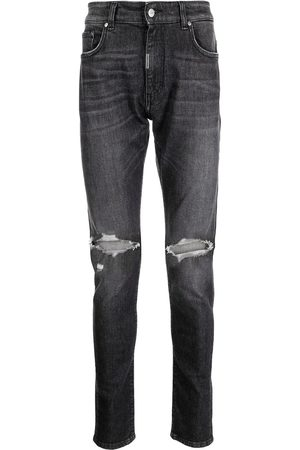 Represent Ripped knee skinny jeans