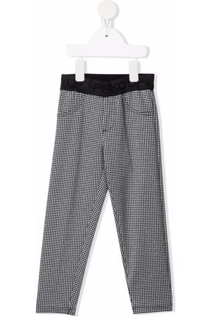 Pinko Kids Houndstooth-print pull-on trousers