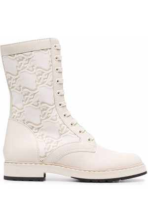Fendi Women Ankle Boots - FF Karligraphy-motif ankle boots