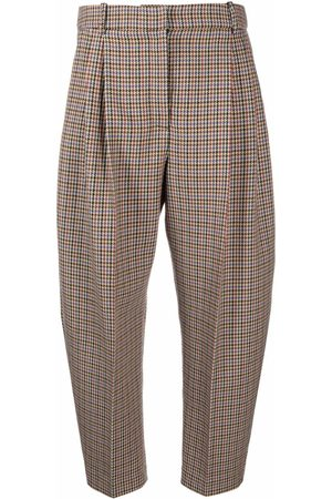 Stella McCartney Women Pants - Houndstooth cropped suit trousers