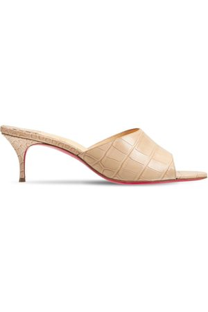 CHRISTIAN LOUBOUTIN 55mm East Croc Embossed Leather Mules