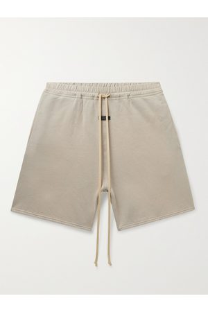FEAR OF GOD Wide-Leg Shell-Trimmed Cotton-Jersey Drawstring Shorts