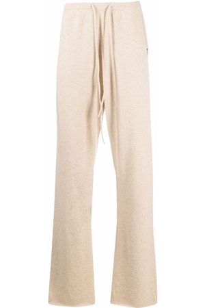 EXTREME CASHMERE Wide-leg knitted track pants