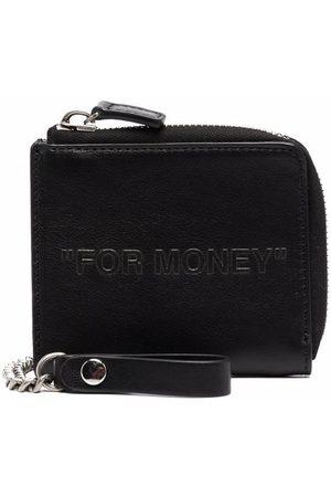 OFF-WHITE Men Wallets - DEBOSSED QUOTE CHAIN WALLET