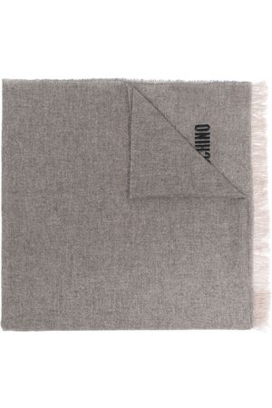 Moschino Men Scarves - Logo-embroidered cashmere scarf