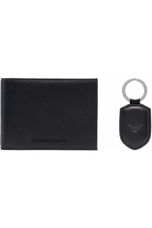 Emporio Armani Men Wallets - Folded leather wallet and tag