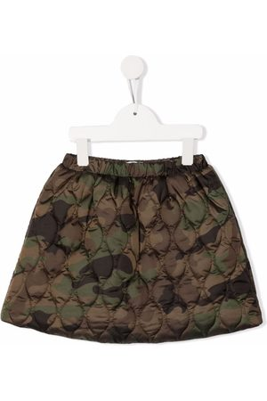 Il Gufo Girls Skirts - Camouflage quilted miniskirt