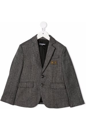 Dsquared2 Kids Boys Blazers - Single-breasted fitted blazer