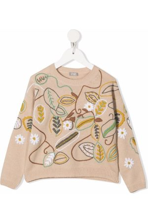Il gufo Jumpers - Floral-embroidery knitted jumper
