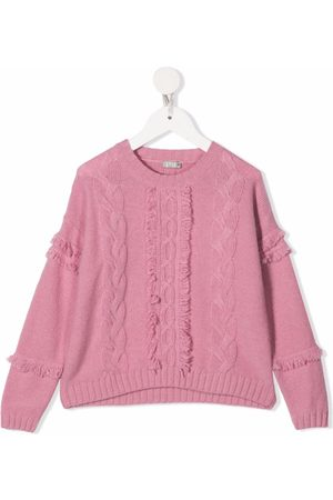 Il Gufo Jumpers - Cable-knit wool jumper