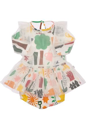 Stella McCartney Printed Recycled Tulle Dress & Diaper