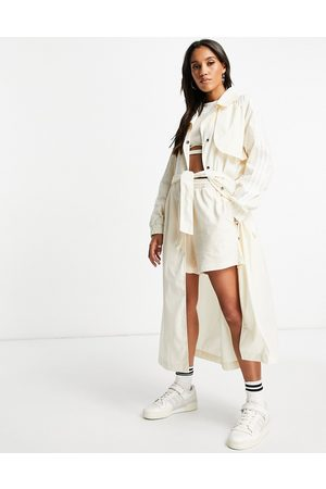 adidas Adiolor trench coat jacket in oatmeal