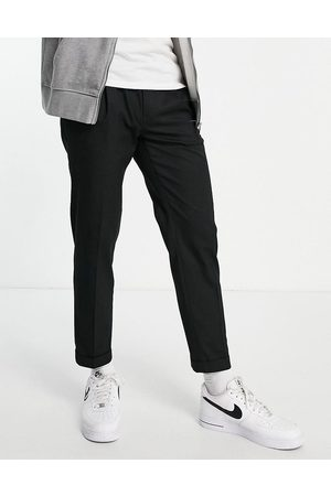 Topman Men Chinos - Smart tapered trousers with turn up in