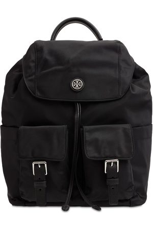 TORY BURCH Recycled Nylon Flap Backpack