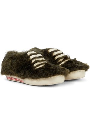 The Animals Observatory Bunny faux fur sneakers