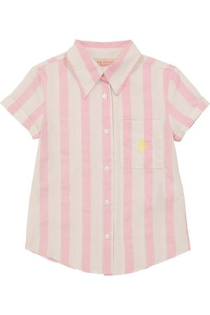 The Animals Observatory Striped short-sleeved cotton shirt