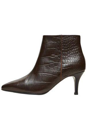 Selected Femme Croc Heeled Boots