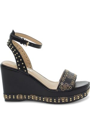 Guess WOMEN'S NOLDONMBLACK LEATHER WEDGES
