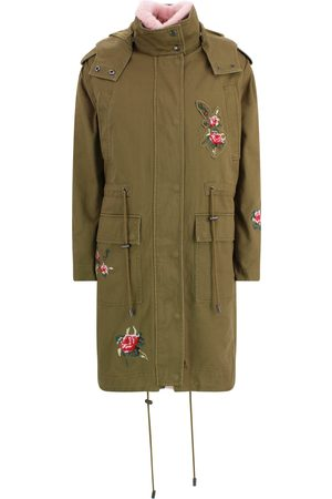 RED Valentino APPLIQU -DETAIL HOODED COAT