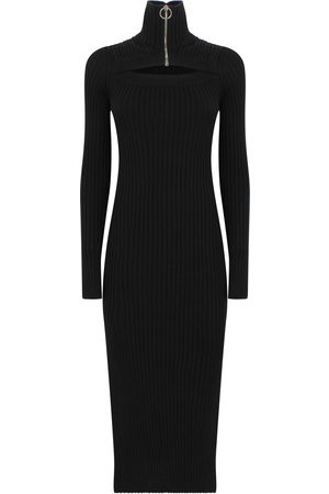 Msgm HIGH NECK KNITTED DRESS