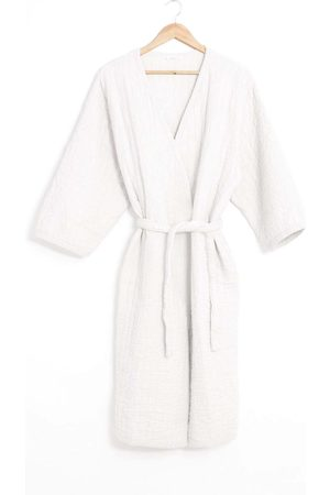 beaumont Adeline Organic Cotton Dressing Gown In Off