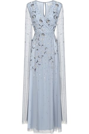 Frock and Frill Laia Embellished Maxi Dress with Statement Sleeves
