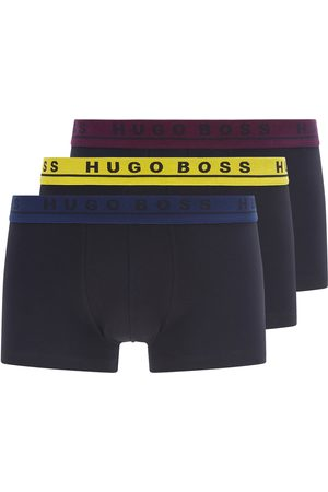 HUGO BOSS Mixed Colour 3-Pack Of Stretch-Cotton Trunks 50458488 962