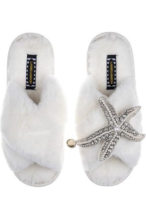 Laines London Laines slippers pearl & crystal starfish, Title: CREAM