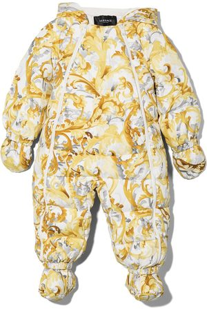 VERSACE Baroque-print padded suit