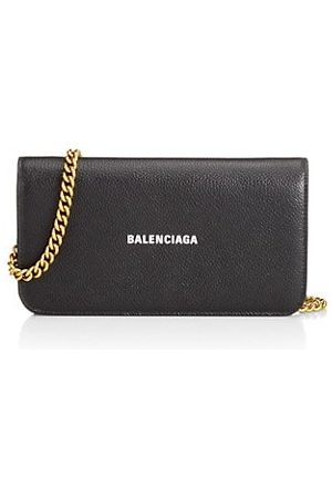 Balenciaga Wallets - Cash Leather Wallet-On-Chain