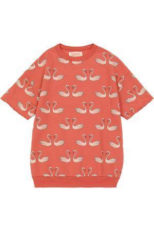 The Animals Observatory Printed cotton-jersey T-shirt
